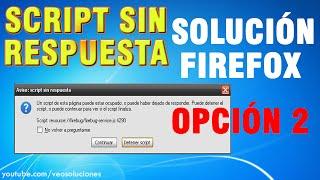 Mozilla Firefox   Script sin respuesta (cómo solucionarlo) 2/2