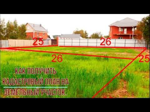 Как получить кадастровый план на земельный участок.