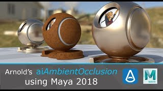 Intro to Arnold's aiAmbientOcclusion in Maya 2018