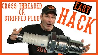 How To Fix Stripped Spark Plug Threads For Free With This Hack - Video