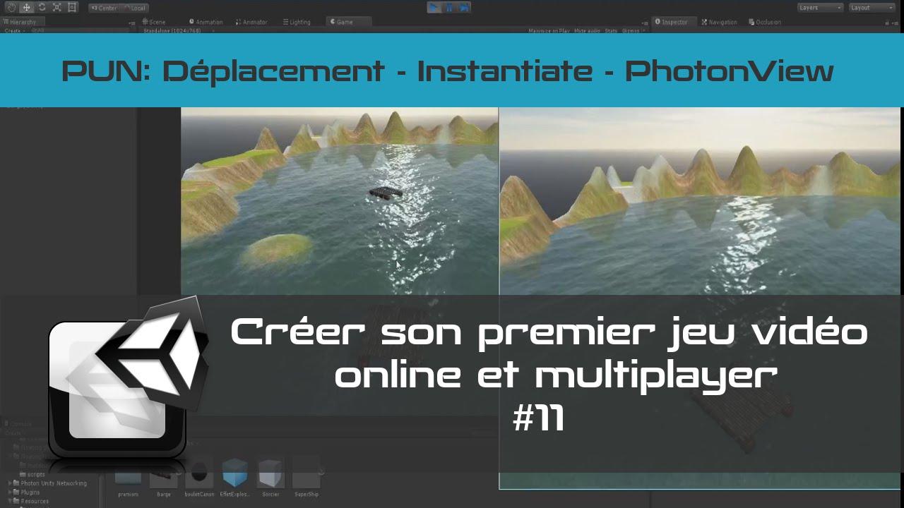 VISIONNÉE   [TUTO Unity3D FR] Unity 5 - Créer un jeu vidéo en réseau #11- Retour sur PUN
