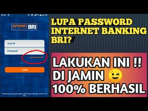CARA MENGATASI LUPA PASSWORD INTERNET BANKING BRI