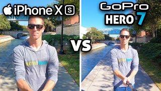 iPhone XS vs GoPro 7!