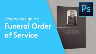 How To Design A Funeral Order Of Service Booklet In Adobe Photoshop   Solopress Tutorial