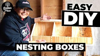 Simple DIY Nesting Boxes for Chicken Coop | Homestead DIY Projects