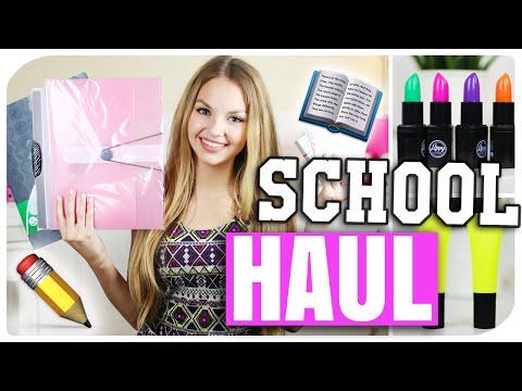 BACK TO SCHOOL SUPPLIES HAUL   NEUE Sachen für die SCHULE/ UNI   deutsch 2015