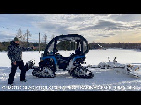 Kabina DFK Cab udělá zotevřené čtyřkolky univerzální vozidlo vhodné do zimy a sněhu
