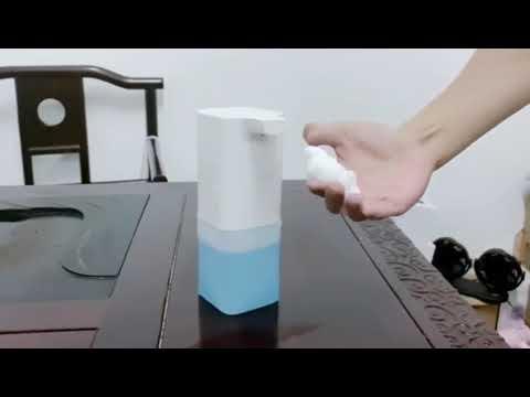 Дозатор для мыла сенсорный бесконтактный для пены 350 мл с аккумулятором 1200 мА Hand Free (НF-25518) Video #1