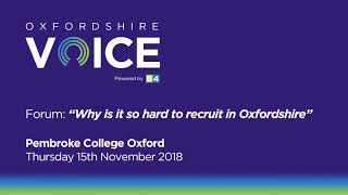 OV Forum: Why is it so hard to recruit in Oxfordshire