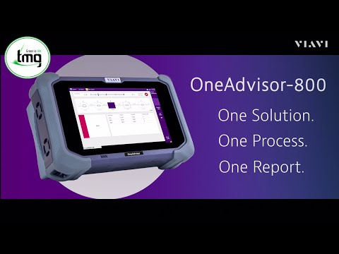 Video: OneAdvisor-800 for 5G, LTE and FTTx Field Test Applications