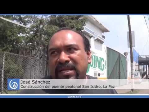 Puente peatonal de San Isidro reportan dos semanas en que las obras pararon
