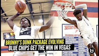 Bronny James' BOUNCE Is EVOLVING!! Adds NEW Dunk To His Package! Blue Chips Get The W In Vegas!