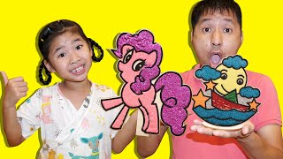 Bé Bún Tô Màu Kim Tuyến Thiên Thần Ngựa Pinkie Pie – Bố bé Bún Tô Màu Tuyền Trăng Lấp Lánh