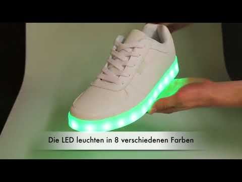 Leuchtschuhe - Schuhe mit LED Sohle - USB aufladen