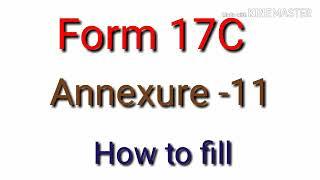 17C Form filling