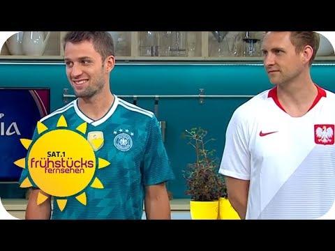 Fußball-WM: Welches Trikot gewinnt den Titel?   SAT.1 Frühstücksfernsehen   TV