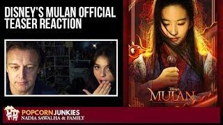 Disney's Mulan Official Teaser Trailer Reaction - Nadia Sawalha & The Popcorn Junkies