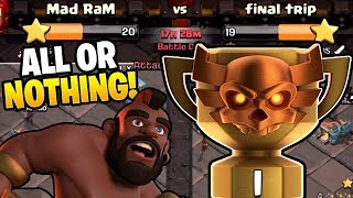 THIS WAR IS ALL OR NOTHING FOR CHAMPS 1 IN CWL! - Clash of Clans