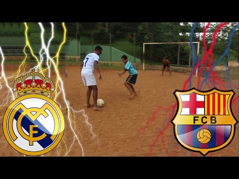 Cristiano Ronaldo Vs Neymar - Real Madrid Vs Barcelona - DESAFIOS DE FUTEBOL