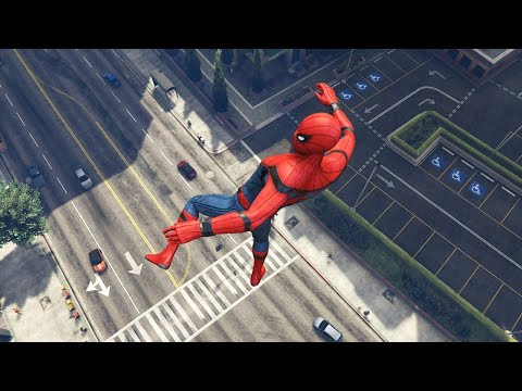 GTA 5 Water Ragdolls | SPIDERMAN Jumps/Fails Ep.46 (Euphoria physics | Funny Moments)