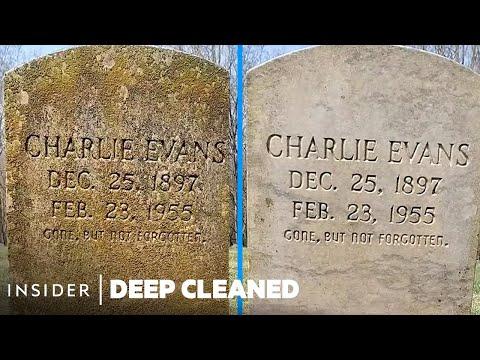 Deep Cleaning Gravestones
