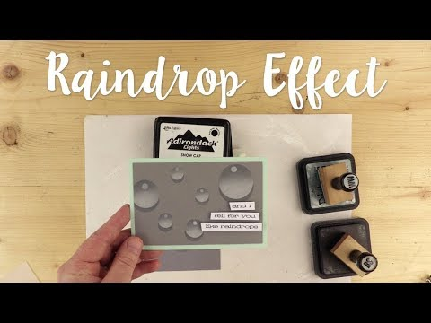 How to create a raindrop effect using stencil film with Pete Hughes - Sizzix