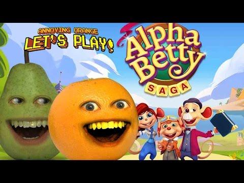 Annoying Orange & Pear Let's Play: ALPHA BETTY SAGA