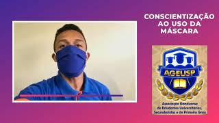 Campanha de Conscientização da Ageusp: Use máscaras, proteja a si e ao próximo