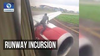 Man Climbs Wings Of Port-Harcourt Bound Aircraft
