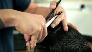 BASIC SCISSOR CUTTING - Short Messy Haircut - For Beginners