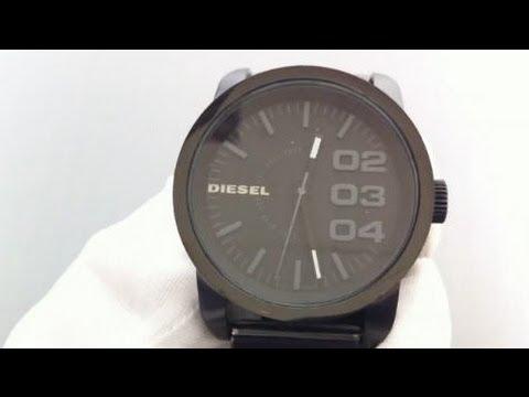 Men's Diesel Black IP Stainless Steel Bracelet Watch DZ1371