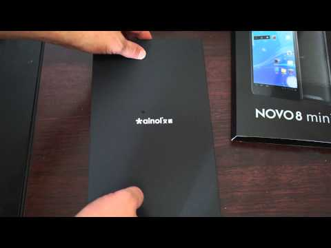 "Ainol Novo8 mini Tablet PC ATM7021 7.85"" first look unboxing"