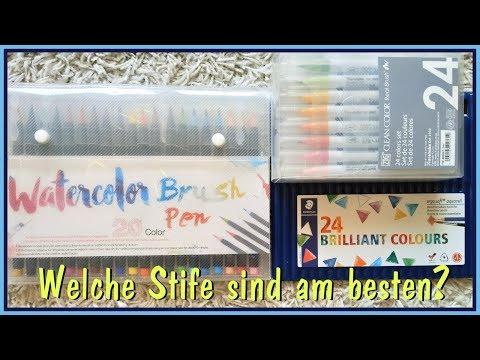 Welche Aquarell Stifte sind am besten?   Review   ZIG   Watercolour Brush Pens   Ergosoft Pencil