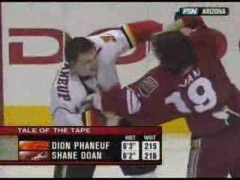Shane Doan vs. Dion Phaneuf