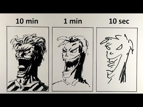 MARK CRILLEY'S 10 MINUTE/1 MINUTE/10 SECOND SPEED CHALLENGE! -Drawing Joker