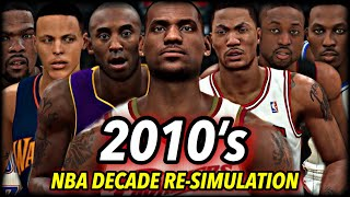 I Reset The NBA To 2010 And Re-Simulated THE WHOLE DECADE. | 2010's Decade Re-Simulation Chapter 1