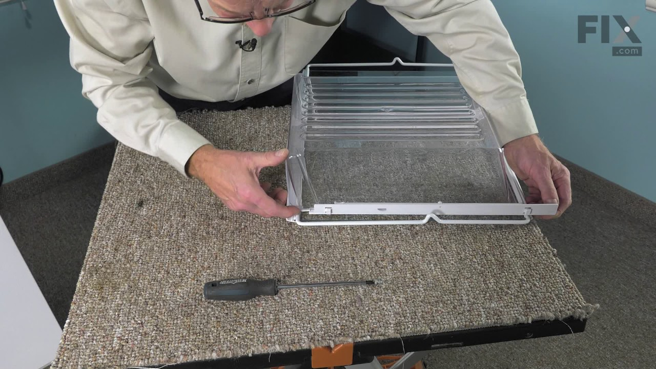 Replacing your Frigidaire Refrigerator Drawer Support Rail - Left Side