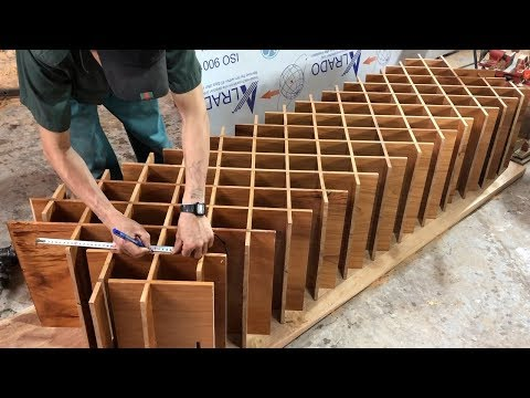 Woodworking Projects (Part -4) - Make Wooden Diamond Wine Rack // Wooden Partition Wall Designs