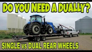 Dually vs Single Rear Wheel Pickups!  Must watch!