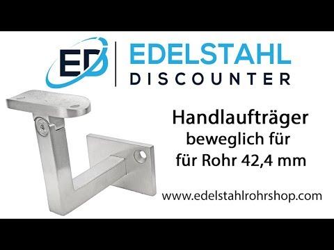 Edelstahl Handlaufträger beweglich für Rohr 42,4 mm