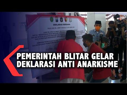 pelajar dan ormas di kota blitar deklarasi anti anarkisme