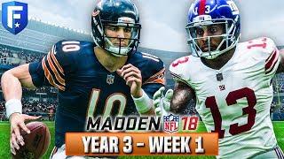 Madden 18 Bears Franchise Year 3 - Week 1 vs Giants | Ep.41