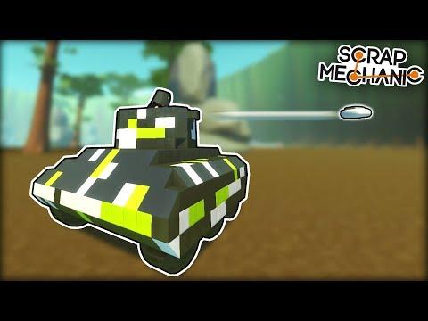 Tank Battle With Sticky Explosives! (Scrap Mechanic Multiplayer Monday)