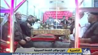 سيارة على شكل موكب متنقل لخدمة زوار الامام الحسين (ع)
