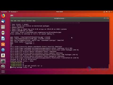 How to install RAR on Ubuntu 18 04 | LinuxHelp Tutorials