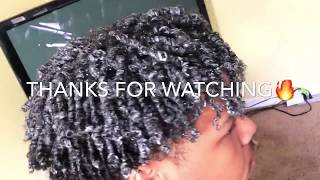 Finger Coils | Men's Natural Hair | How To Get Curly Hair For Black Men