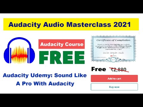 Audacity Audio Masterclass | Free Course With Certificate | Udemy ...