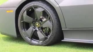 OUCH! Lamborghini Reventon CURBED Carbon Fiber Wheel!
