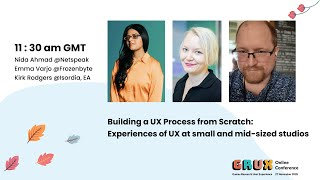 Building UX Process from scratch: Experiences of UX at small & mid-sized studios