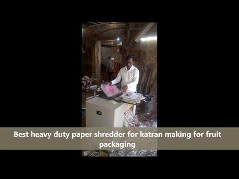 Newspaper Katran Shredder for Fruit Packaging Machine